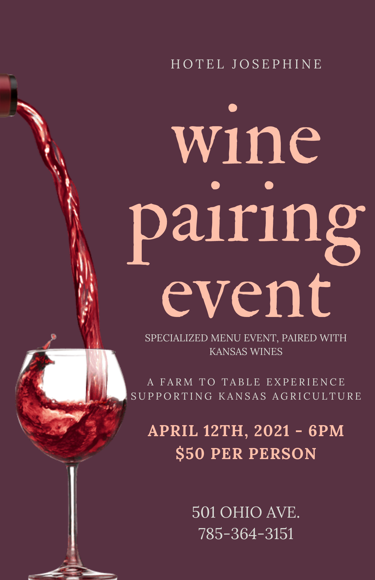 Wine Pairing April 1